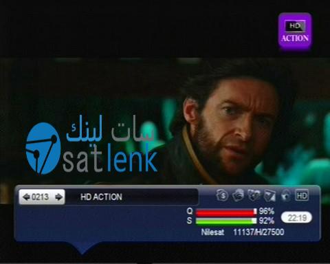 تردد قناة اكشن اتش دى ''HD action'' جديد النايل سات