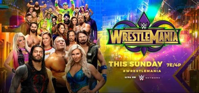 القنوات الناقلة لعرض الرسيلمنيا Wrestlemania 34 علي جميع الاقمار