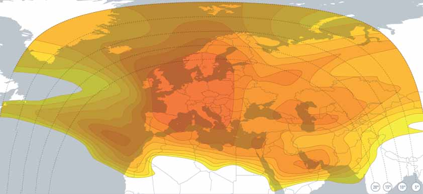 قمر يولتسات 16 شرق Eutelsat 16